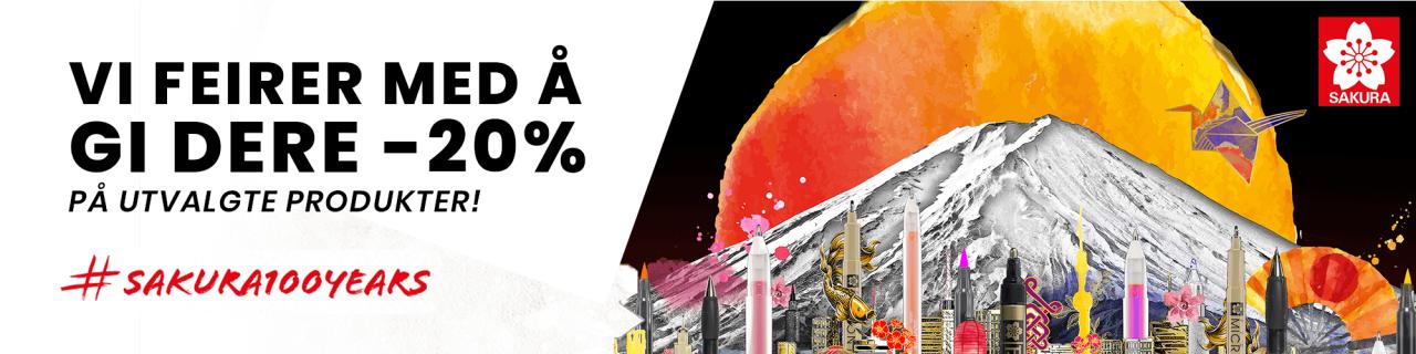 #Sakura100years - vi feirer med å gi dere -20% på utvalgte Sakura-produkter!