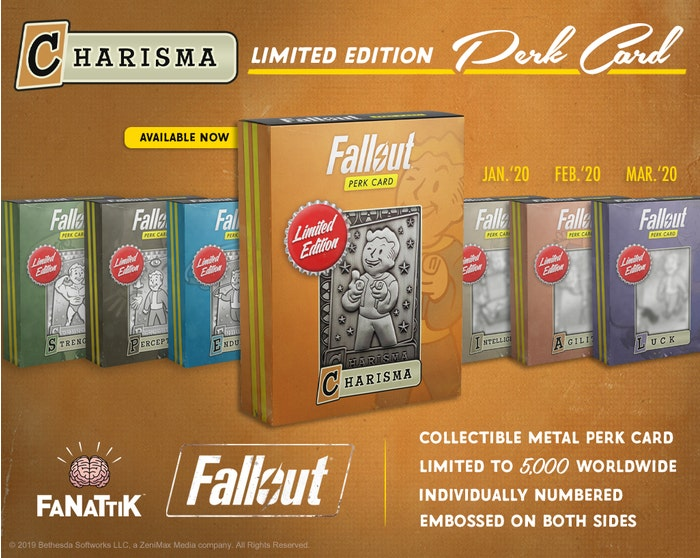 Charisma Fallout Limited Edition Perk Card