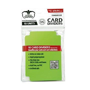 Standard Size Card Light Green Dividers (10)