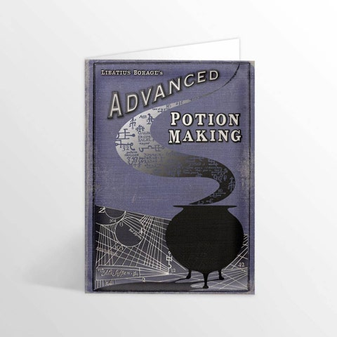 Advanced Potion Making Foiled Notecard