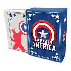 Marvel Comics: Captain America (Tiny Book): Inspirational Quotes from the First Avenger Fits in the Palm of Your Hand Stocking Stuffer, Novelty Geek Gift