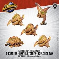 Chompers, Destructomite & Explodohawk