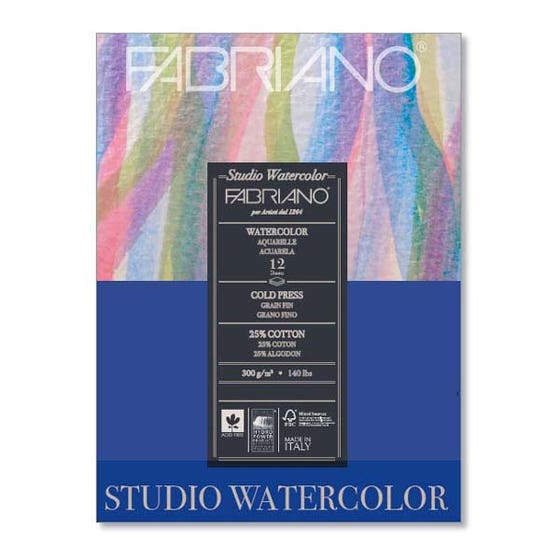 Fabriano Water Color Paper Coldpress 24x32cm 300g (20 Ark)