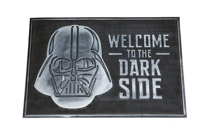 Welcome to the Dark Side Rubber Mat