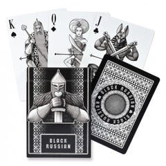 Black Russian Playing Cards