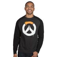 Overwatch Stencil Logo Raglan Pullover Sweatshirt (S)