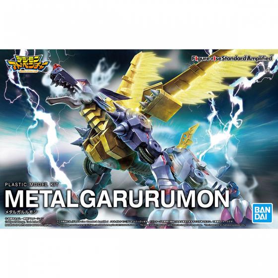 Digimon Amplified Metal Garurumon Fig-rise Std Mdl Kit