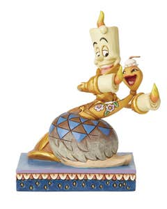 Disney Traditions Lumiere And Feather Duster Figure