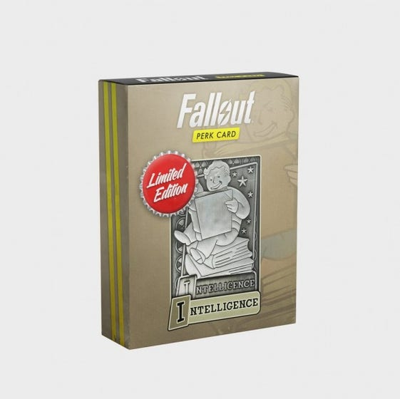 Intelligence Fallout Limited Edition Perk Card