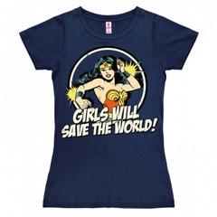 Girls Will Save The World Women's T-Shirt (L)