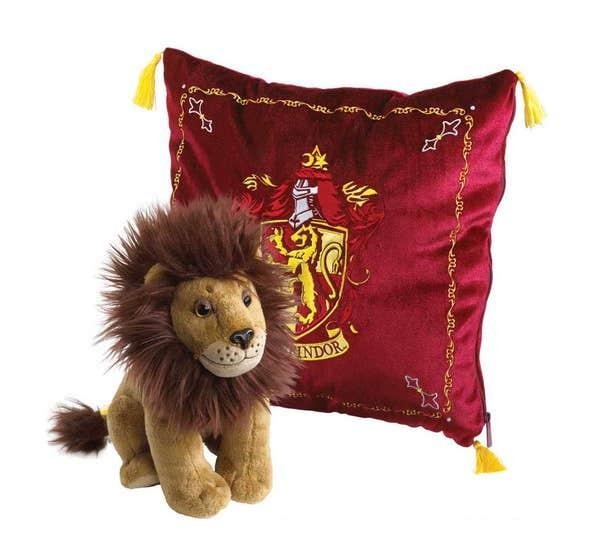 Gryffindor House Mascot Cushion w/ Plush Figure
