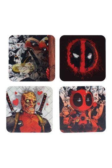 Deadpool Lenticular Coaster 4-Pack