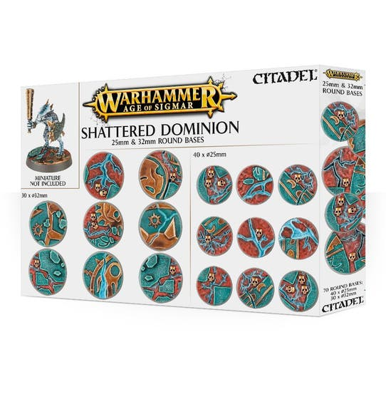 Shattered Dominion: Round bases 25x32 mm