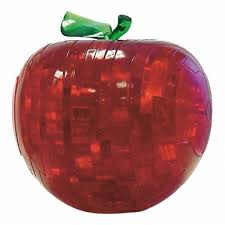 Red Apple 3D Crystal Puzzle