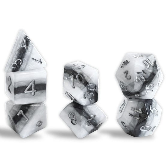 Reality Shards Truth Poly Black, White, Grey /Silver (7)