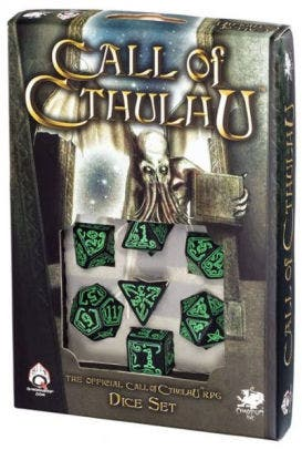 Call of Cthulhu Dice Set Black and Green (7)