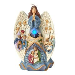 Lighted Nativity Angel Musical Figurine 26 cm