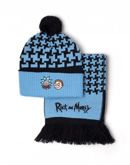 Rick and Morty Beanie & Scarf Giftset