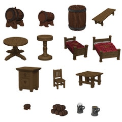 D&d Icons Realms Minis Yawning Portal Beds & Bottles