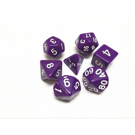 Opaque Poly Purple /White (7)