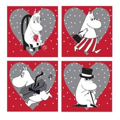 Moomin Red Coaster 4-Pack
