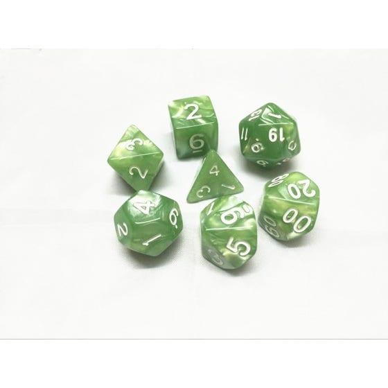 Pearl Poly Pale Green /White (7)