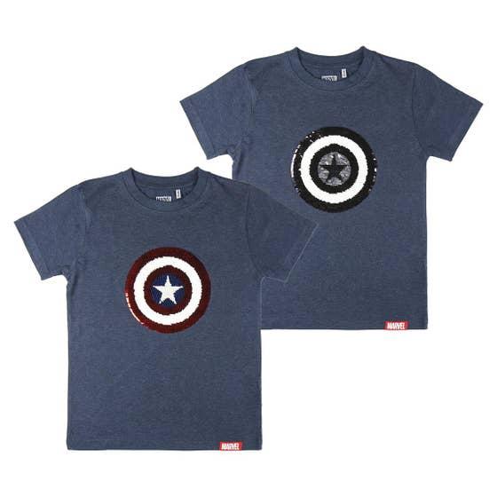 Shield Sequins Navy Premium Kid's T-Shirt (10 Years)