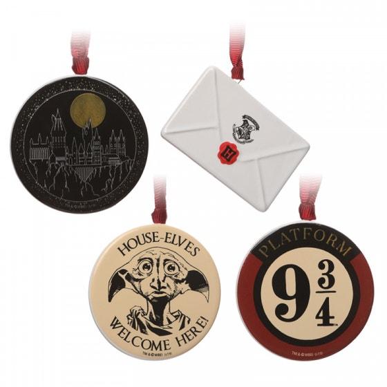 Letter, Hogwarts, Dobby, 9 3/4 Decorations Set of 4