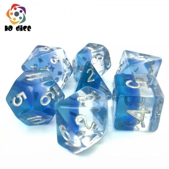 Transparent Poly Blue Gradients /White (7)