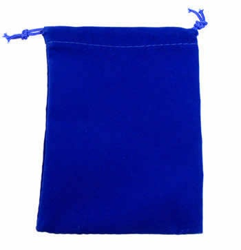 Blue Velour Dice Pouch (small)