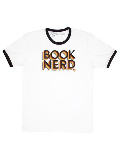 Book Nerd Pride (Ringer) T-Shirt (M)