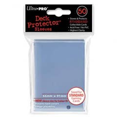 Color Clear Standard Size Deck Protector Sleeves (50)