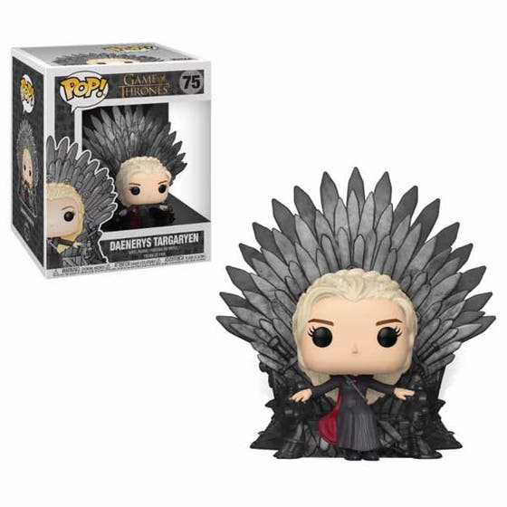 Pop Deluxe Game of Thrones Daenerys On Iron Throne Vin Fig