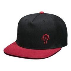 Team Horde Black & Red Snap Back Hat
