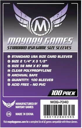 Standard USA Size Card Sleeves (100)