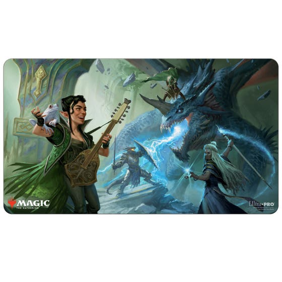 Party Fighting Blue Dragon Play Mat