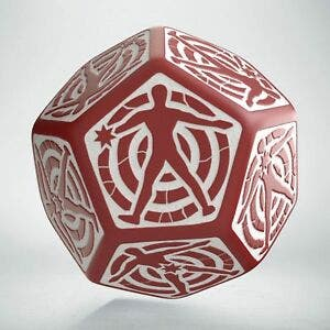 Red & White D12 Hit Location Dice