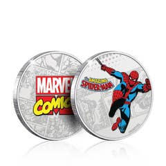 Spider-Man Silver Plated Collectible Coin