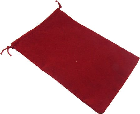 Red Velour Dice Pouch (L)