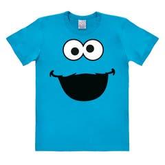 Cookie Monster Face Easyfit T-Shirt (L)