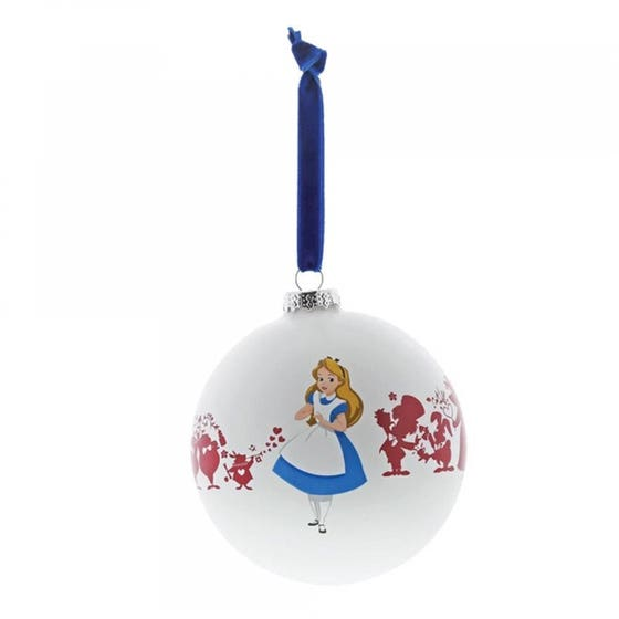 Were All Mad Here Glass Bauble