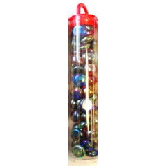 Iridized Mixed Colors Glass Stones (40+)