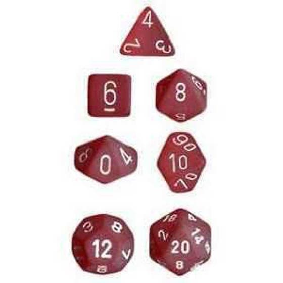 Frosted Poly Red /White (7)