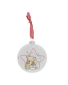 Winnie the Pooh Glass Bauble