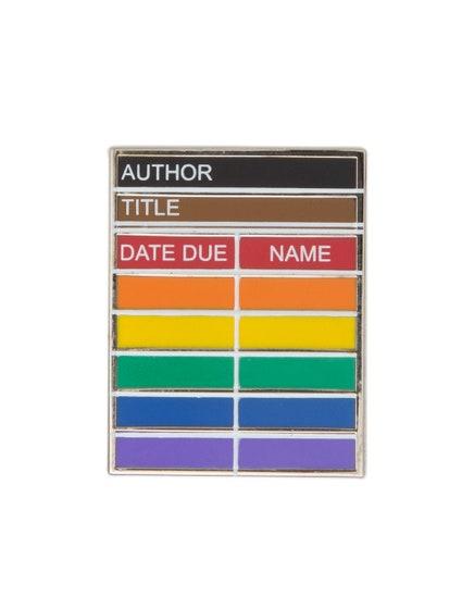 Library Card Pride Enamel Pin