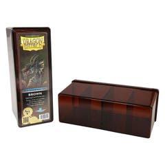 Brown Dragon Shield Four Compartment Deck Box
