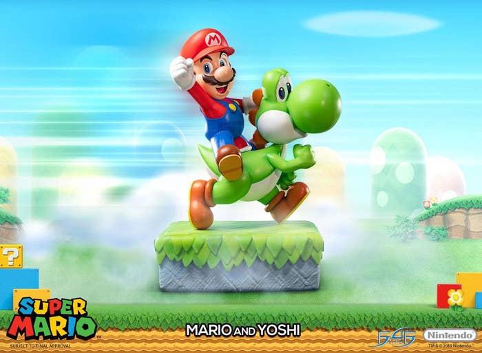 Super Mario Yoshi & Mario Resin Statue