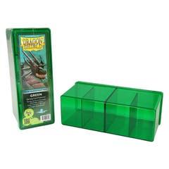 Green Dragon Shield Four Compartment Deck Box