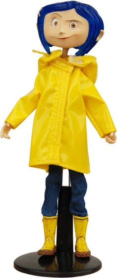 Coraline in Raincoat and Boots Bendy Doll Action Figure 18 cm
