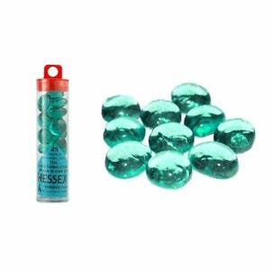 Teal Glass Stones (20+)